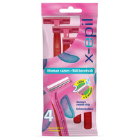 X-Epil Disposable woman razors with twin blade  4pcs/pack