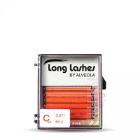Long Lashes color MIX lashes- PINK C 0,07-8-10-11-12-14-16mm