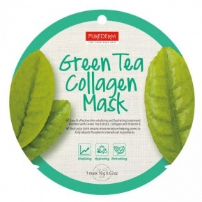 PureDerm Green Tea maszk circle